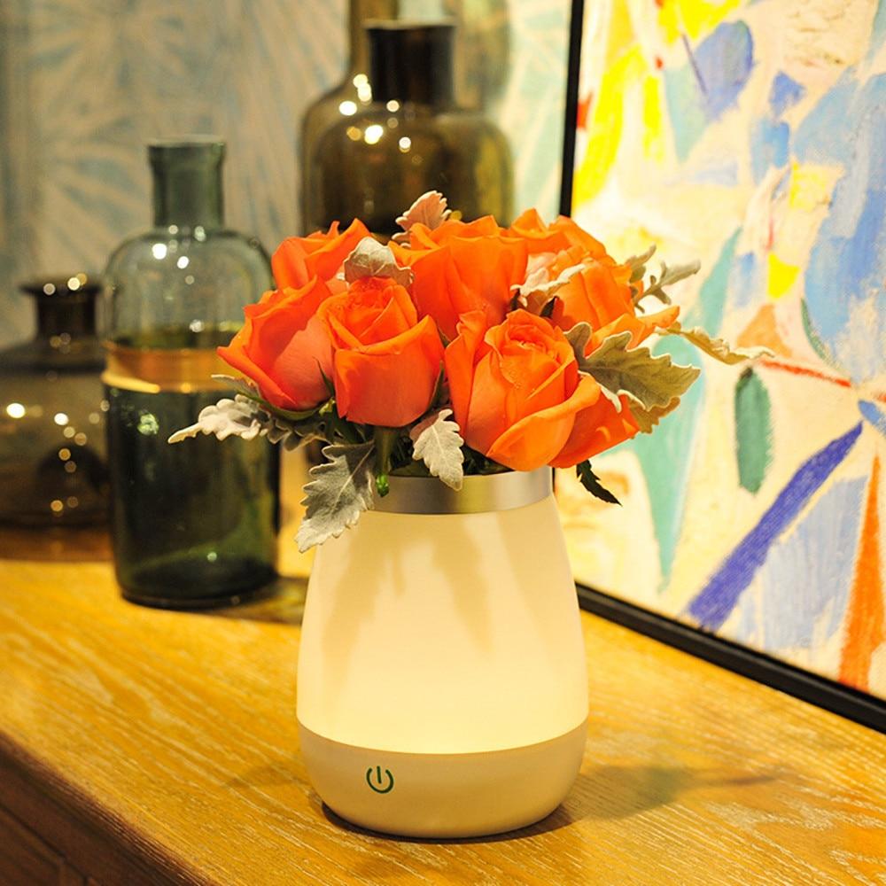 Vase Table Lamp Led Night Light With Sensor Desk Bedsies