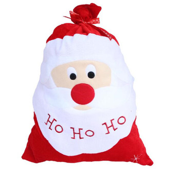 10pcs/Lot Christmas Sack Stocking Gift bags Xmas Santa Claus Decoration Supplies Xmas Wrapping Large Gift Candy Bags 40%off