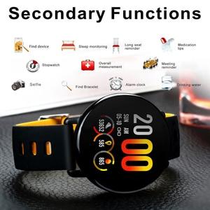 Image 3 - SENBONO K1 Smart Watch Men Women IP68 Waterproof Clock Activity Fitness tracker Heart rate monitor Smartwatch for IOS Android