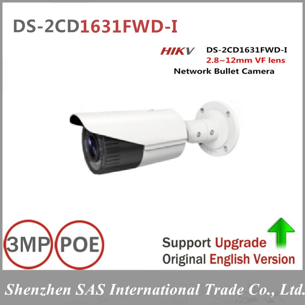Free shipping English version DS-2CD1631FWD-I replace DS-2CD2635F-IS/ZJ 3MP network bullet POE ip cctv camera varifocal lens in stock free shipping ds 2cd1631fwd i replace ds 2cd2632f is ds 2cd2635f is zj varifocal zoom ip poe camera outdoor camera