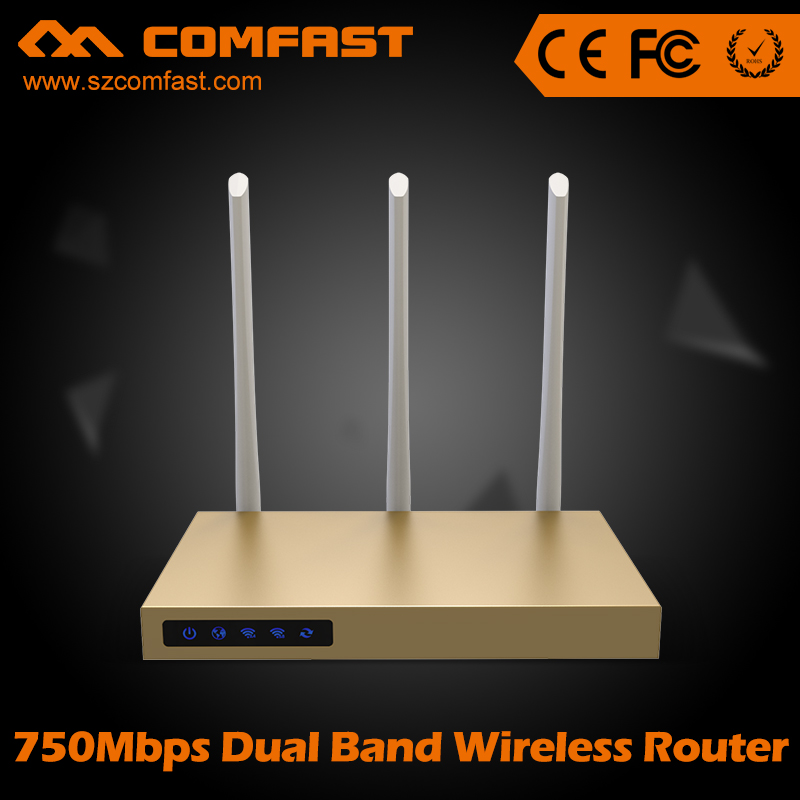 COMFAST CF-WR630AC 750Mbps Dual Band wireless ac wifi router with 3*6dBi antennas build-in 3PA high power 802.11ac wifi router comfast cf ac200 ac gateway controller mt7621 880mhz core full gigabit ac authentication gateway routing with 5 1000mbps port