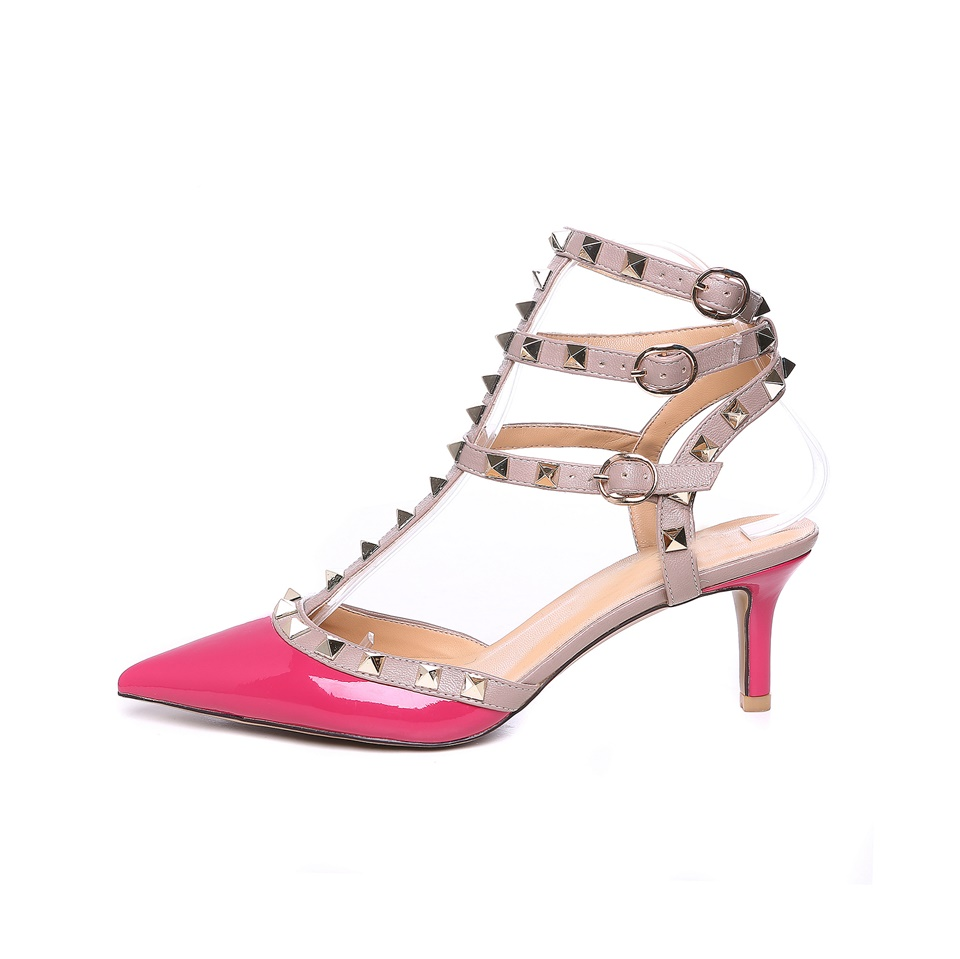 297c80e0a Купить 2018Hot продать Для женщин насосы пикантные сандалии свадебные туфли  Женская обувь на высоком каблуке Модные Сандалии с заклепками Для женщин  Цена ...