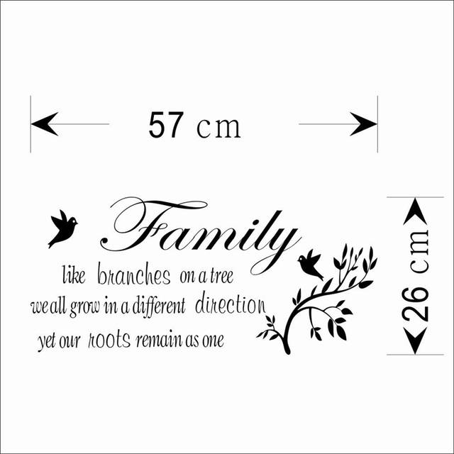 Online Shop Family Like Branches On The Tree Quotes Removeable Wall