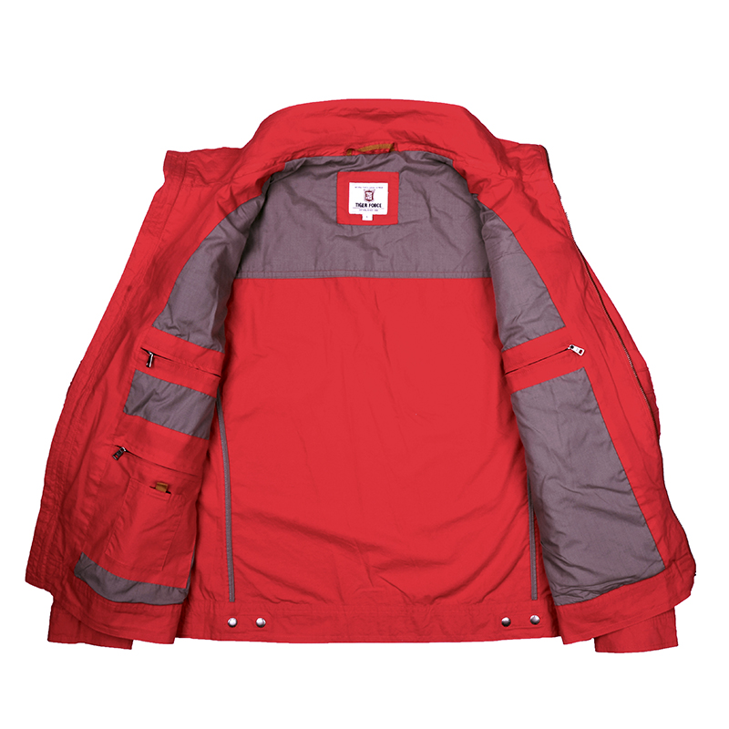 Veste Manteau Mode Rouge Automne Hommes Force Casual Tiger Printemps Iqn1F6nw