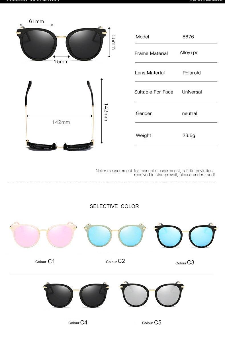 a5bf62101c Original Brand Designer Design Sunglasses Women Polarized Cat Eyes Fashion  Glasses Colorful Gradient Anti Glare Driving Glasses -1 01 -1 02 -1 03  -1 04 ...