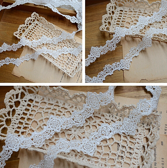 3 Yards 23cm Width New Fashion Guipure Pattern Applique White Lace