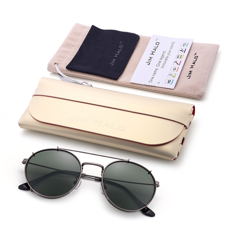 Galletas Dobles Retro Round Polarized Sun glasses