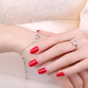 Image 4 - JewelryPalace Infinity Cuore 0.1ct Cubic Zirconia Regolabile Bracciale In Argento Sterling 925 Catena Regolabile Donne Braccialetti con ciondoli