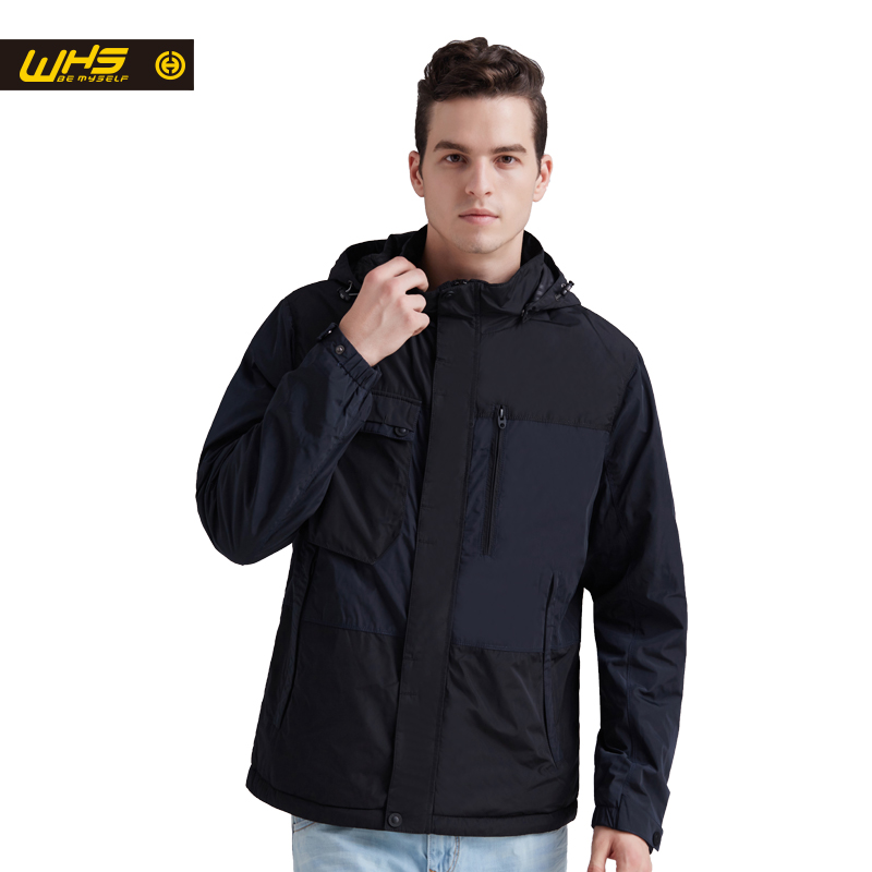 WHS 2018 New Men thin cotton Jacket Autumn outdoor Windproof warm coat Spring Male mens camping clothes hiking jackets hot authentic nike men s coat spring new windproof jacket windrunner training