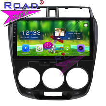 TOPNAVI Android 6 0 2G + 32 GB Quad Core 10 1 #8222 samochód PC jednostka główna odtwarzacz dla Honda City 2011 Stereo nawigacji GPS dwa Din Radio MP4 tanie tanio Funkcja wi-fi Obsługuje can-bus Wsparcie 3g sieci Wsparcie Steering Wheel Control Jpeg Dvd-r rw Dvd-ram Video cd 10 1