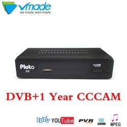 Новый DVB-S2 S9 обновления цифровой спутниковый ТВ ресивер Full 1080P HD lan RJ45 с 1 год Европа резких перемен температуры декодер ТВ коробка powervu