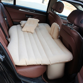 Car Travel Bed Camping Inflatable Sofa Automotive Air Mattress Rear Seat Rest Cushion Rest Sleeping pad Without pump 1