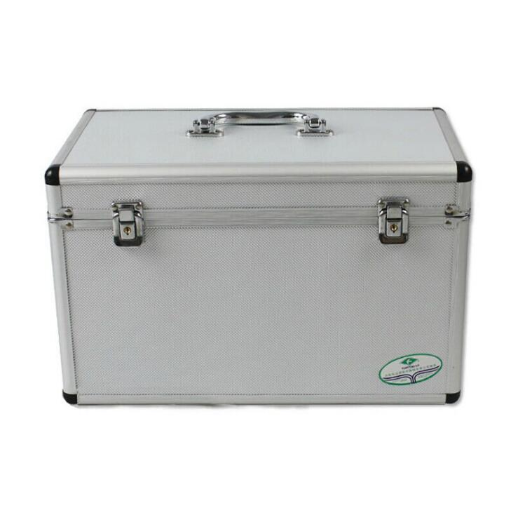 Aluminum alloy family medicine box out of the box 14 inch medical health first aid kit Silver gray storage box windows 8 1 out of the box