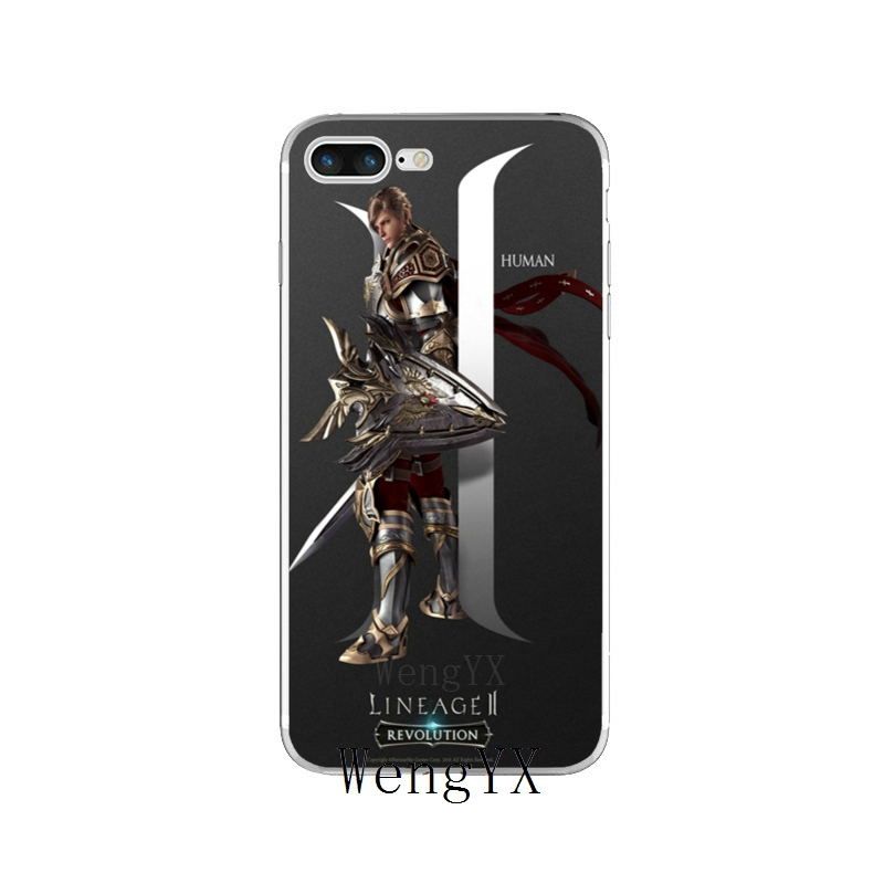US $1 99 |game lineage 2 revolution Slim silicone TPU Soft phone case For  iPhone X 8 8plus 7 7plus 6 6s plus 5 5s 5c SE 4 4s-in Half-wrapped Cases