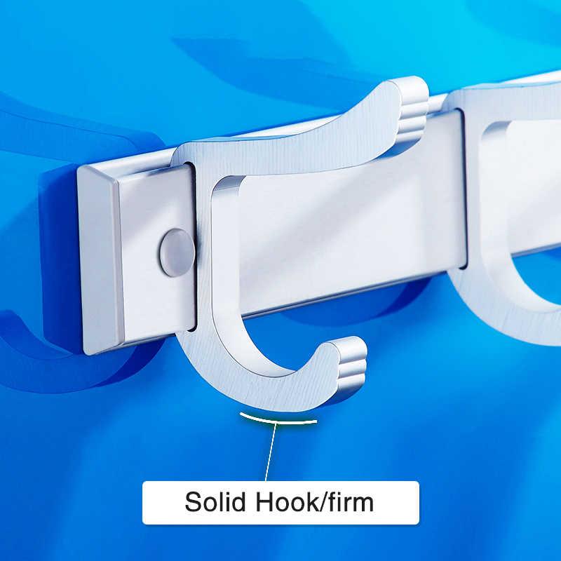 Paznokci darmowe ścienny Robe haki do drzwi nowoczesna aluminiowa haczyki na ubrania akcesoria łazienkowe