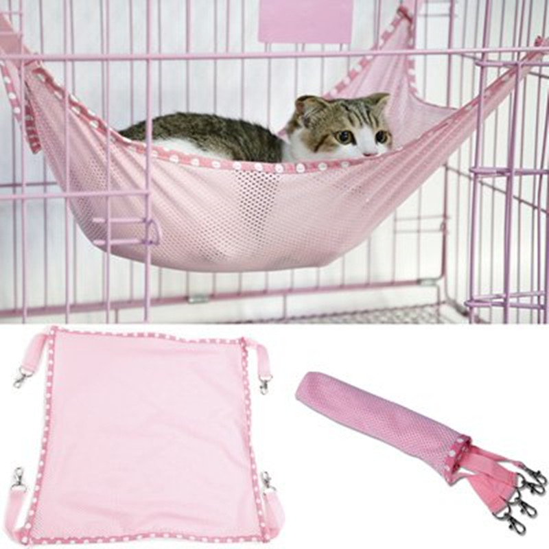 1 x Small Size Breathable Mesh Summer Cat Hammock Pet Mats Pad Hide and Seek Game Accessories Soft and Comfortable