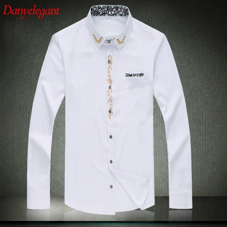 2017 new mens dress shirt 7xl large size black white men 39 s for Mens dress shirts sizes