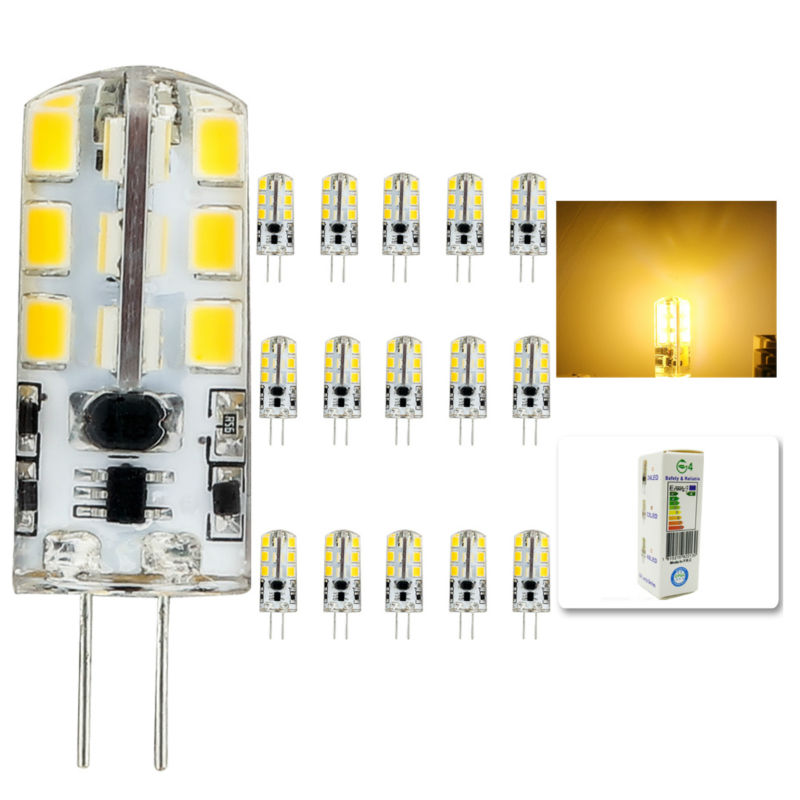 15pcs/lot 2015 new AC DC 12V g4 Led bulb Lamp SMD 2835 6W Replace 40w halogen lamp light 360 Beam Angle luz lampada led