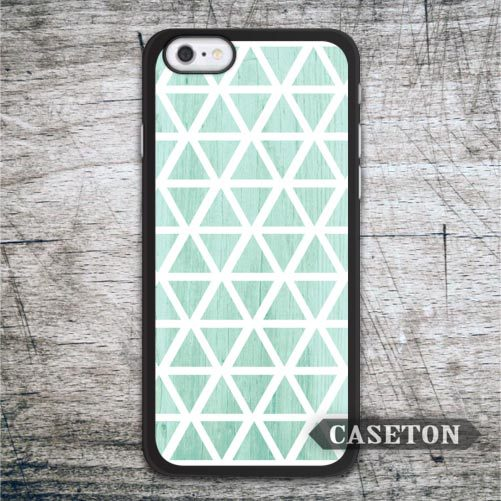 Green Mint Geometry Case For iPhone 7 6 6s Plus 5 5s SE 5c 4 4s and For iPod 5 Lovely Geometric Ultra Cover Wholesale