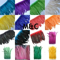 40 45CM Rooster coque feather trims 40 45cm 16 18inch long chicken feather fringes strips DIY feather tapes for crafts