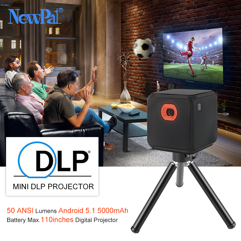 Ultramini DLP 3D Projector NP2 WIFI Android5.1 Full HD Pocket Mini Beamer 110inches Miracast DLNA Airplay with 5000mah Battery built in battery 200 inch mini android 4 4 smart wifi bluray 3d hd led dlp miracast projector data show proyector beamer youtube