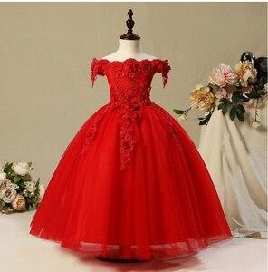 Image 5 - 키즈 Tulle 공주 드레스 여자에 대 한 첫 번째 축제 화려한 레이스 공 가운 아기 소녀 드레스 웨딩 파티 의상 1 12