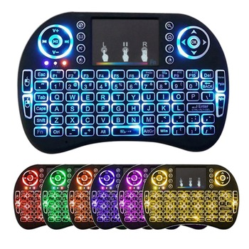 3/7 цветов Подсветка i8 Беспроводной Клавиатура 2,4 ГГц с мультимедиа Сенсорная панель Fly Air Мышь PC ТВ PS3