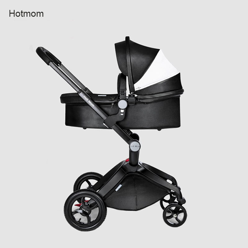 Hot Mom Baby Stroller Can Sit and  Lie High Landscape Portable Stroller