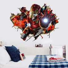 Dream home avenger kids' room wall with iron man backdrop hot-selling waterproof wall stickers