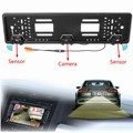 EU European Car License HD Rear View Camera Plate Frame Parking Camera Front View Camera+Reversing Radar Parking Sensors Probe
