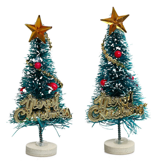 2pcs 6 5cm High Dollhouse Christmas Tree Diy Miniature Garden
