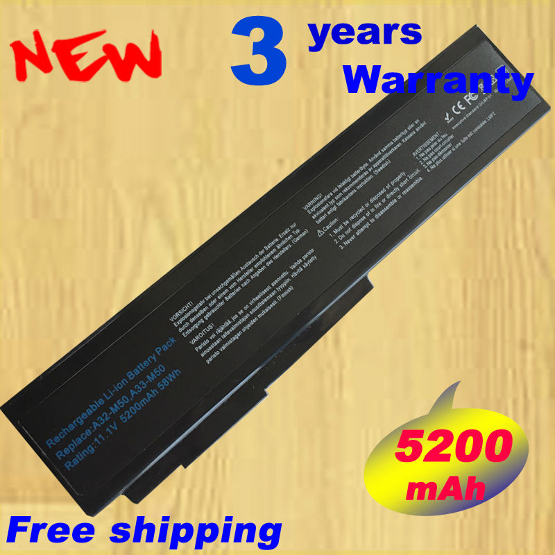 Batterie d'ordinateur portable pour asus n53s n53sv a32-m50 a32-n61 a32-x64 n53 A32 M50 M50s M50-M50 N61 N61J N61D N61V N61VG N61JA N61JV