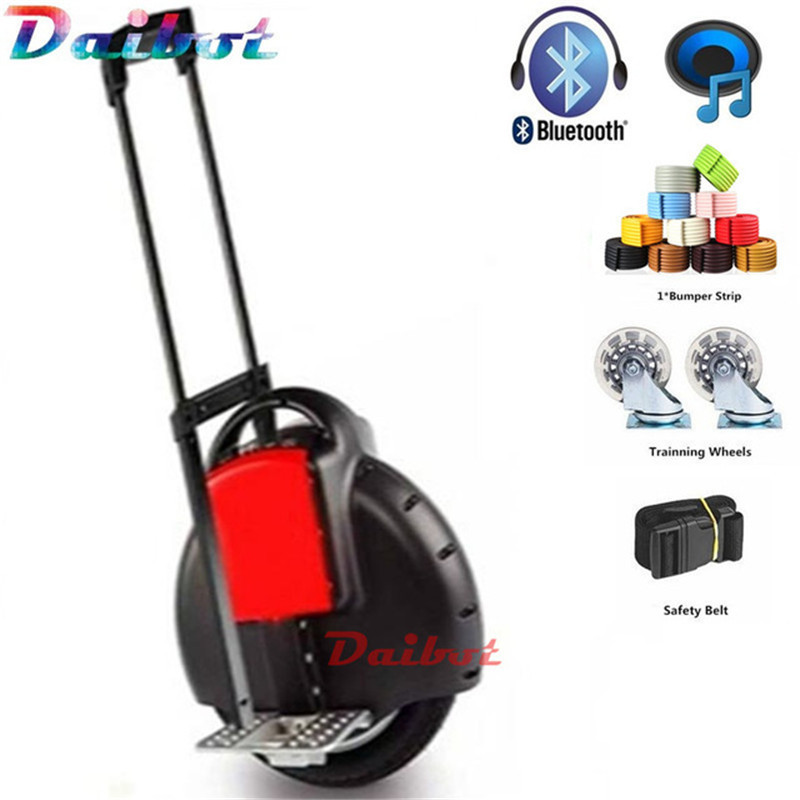 Electric unicycle one wheel skateboard monowheel hoverboard electric scooter overboard monocycle with blueoooth push rod