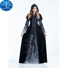 MANLUYUNXIAO New Black Sexy Witch Costume Halloween Cosplay Costume Woman Costume Performance Dance Show Costumes Wholesale