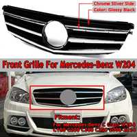 GT R GTR W204 C180 Grill Car Front Upper Racing Grille Grill For Mercedes For Benz C Class W204 C180 C200 C300 C350 2008 2014