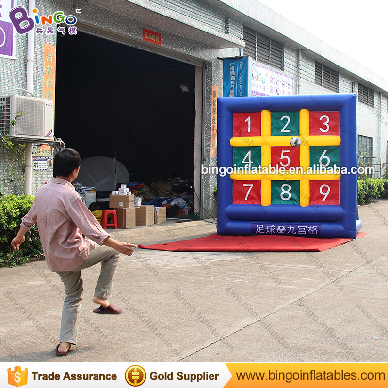 Durable 3X3X1.5m PVC Inflatable Soccer Goal football shooting games for kids soccer target board for sport game outdoor toys hot outdoor games inflatable football shoot game inflatable football darts inflatable soccer kick games for kids n adults