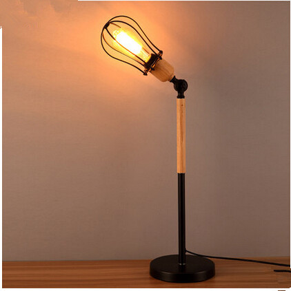ФОТО The study of modern living room lamp of Scandinavian minimalist creative  bedroom bedside lamp design wooden Table Lamps.