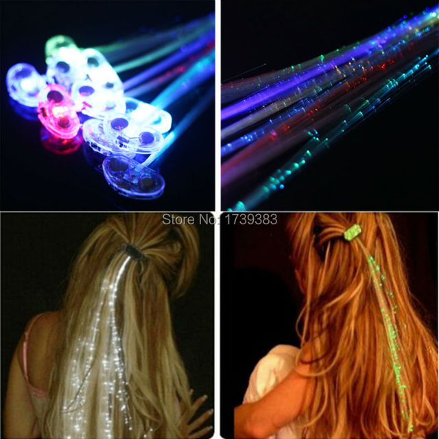 120pcslot Light Up Hair Extension Flash Glowing Led Braidnovelty