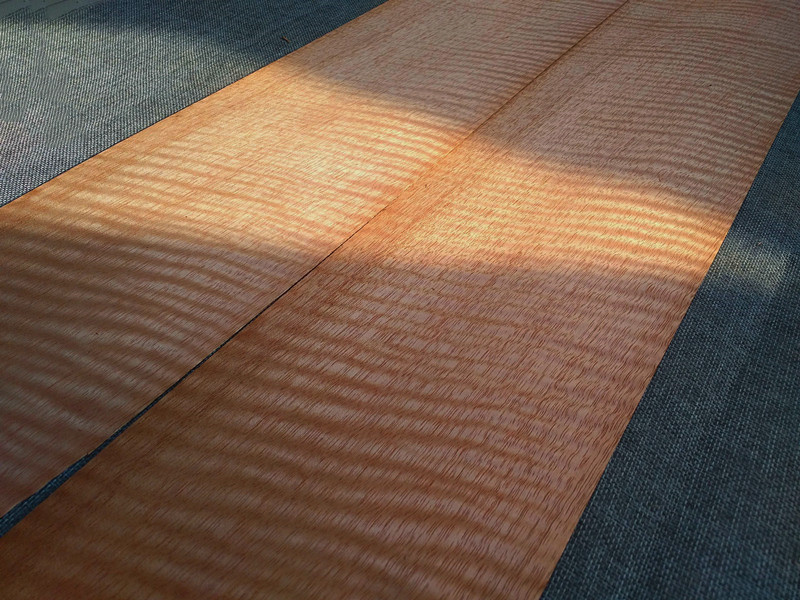 1x Natural Genuine Anieyre Figure Wood Veneer High Quality Qtd Fig Furniture Veneer 20x250cm 0.5mm Thick