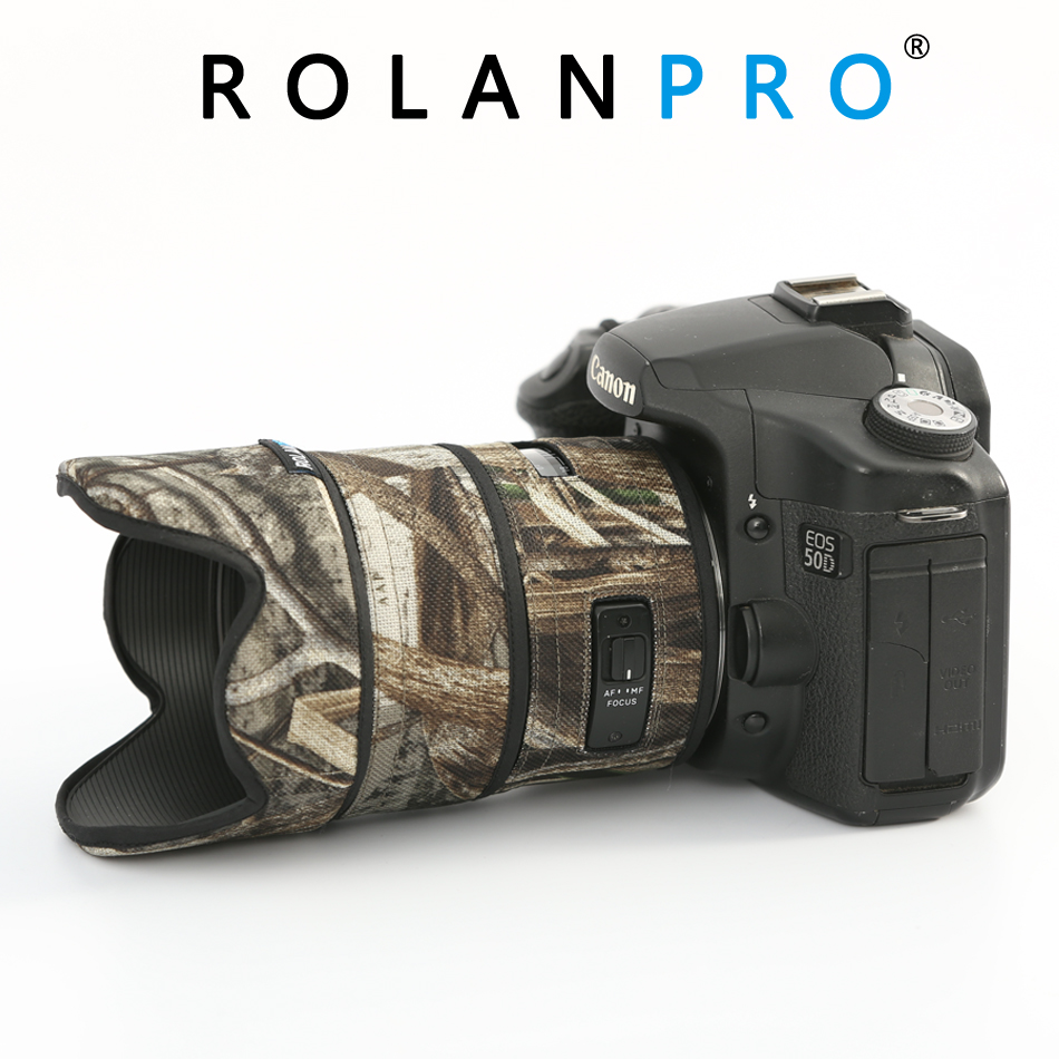 ROLANPRO Lens Camouflage Coat Rain Cover For SIGMA 35mm F/1.4 DG ART Lens Protective Sleeve Guns Protection Case Lens Clothing