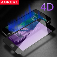 AGREAL 4D Full Screen Protector Tempered Glass For IPhone 7 6 6s Plus 9H 3D Anti