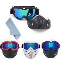 Retro Harley Tactical Mask And Goggle Multi Colors Glasses With Cleaning Cloth For Nerf Toy Gun