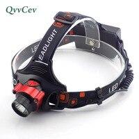 Cảm biến cử chỉ T6 Đèn Pha LED mạnh mẽ đầu đèn pin trán head light torch 18650 hoặc pin AA lampe phía trước frontale