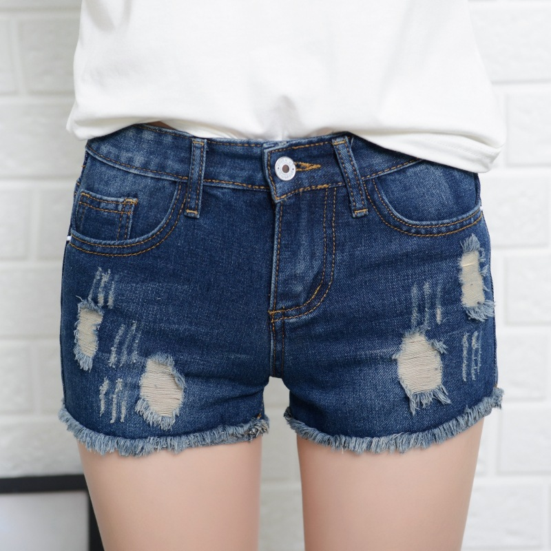Special Denim Shorts Girls Women Summer Fashion Ripped Hole Jeans Shorts Summer Beach Mini Hot Shorts Wild Ruffle Shorts