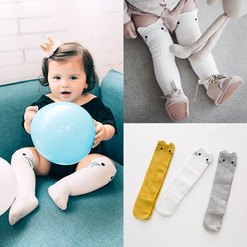 Baby Happy Funny Socks Age 0-3 Year Knee Socks Cartoon Rabbit Hosiery Children calcetines Kids Boys sokken Girls Cute sock