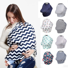 Baby Feeding Nursing Cover Newborn Breastfeeding Scarf Floral Baby Car Seat Cover Canopy Soft Infant Shopping Cart Cover