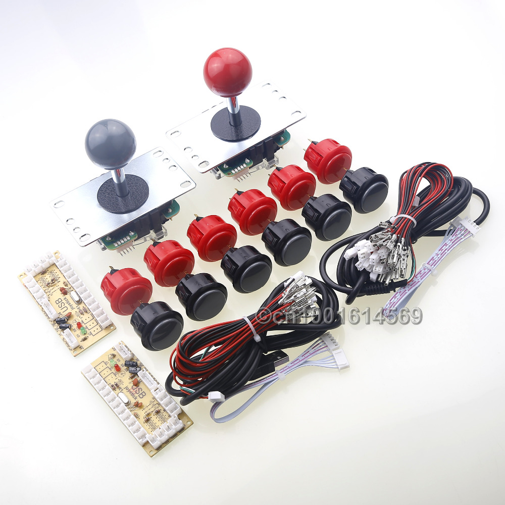 Arcade Joystick DIY Kit Zero Delay USB Arcade Encoder Board To PC Arcade Sanwa Stick + 12 x Sanwa Push Buttons For Arcade Mame hand made full solid wood acoustic guitar with free hard case free shipping
