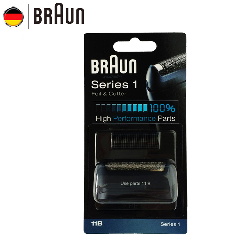 Braun Electric Razor Blade 11B Foil & Cutter Replacement Set for Series 1 Shavers (110 120 140 150 5684 5682 New 130)