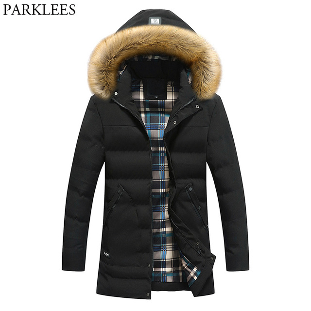 951e622b8884 Brand Fur Hooded Parka Men Manteau Homme Hiver 2017 Winter Padded Cotton  Thick Warm Parka Homme Casual Slim Fit Jacket Coat Men