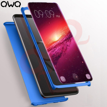Luxury Full Coverage Phone Cases For Samsung Galaxy S9 Case 360 Degrees Hard PC Matte Cover For samsung S8 plus Note 8 Shell 360 degrees